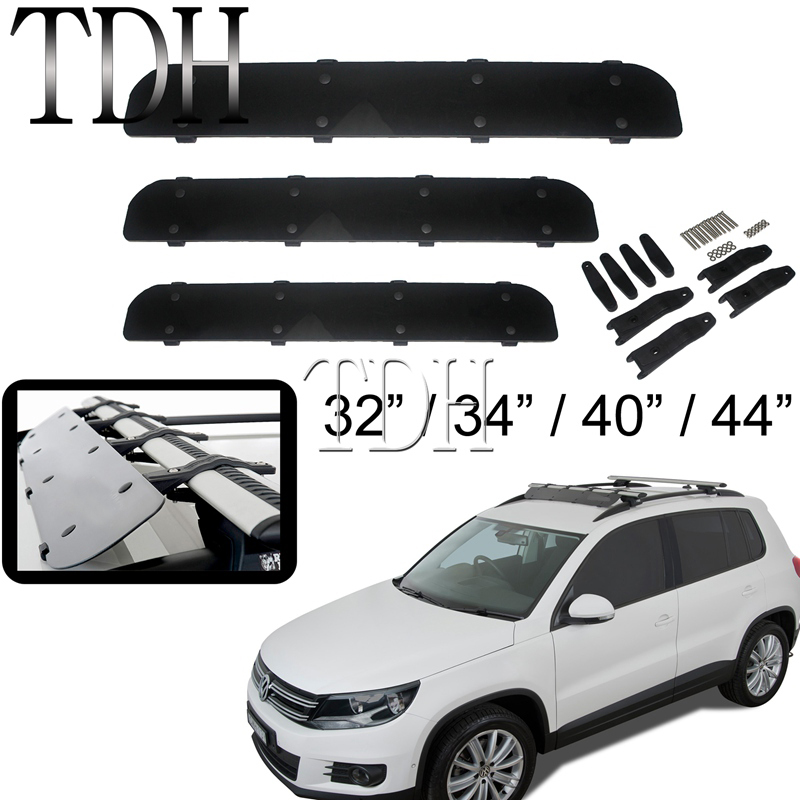 Car Roof Rack Air Deflector 32 34 40 44 Wind Fairing Deflector for Jeep Wrangler Auto Car Top Cargo 112cm Wind Spoiler image