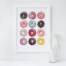 Постер с пончиками замечательный знак Настенная картина на холсте