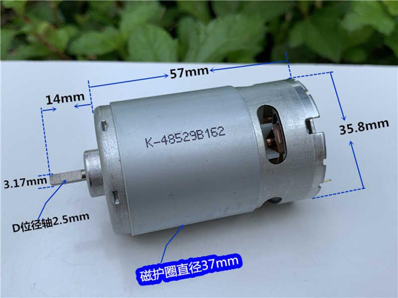RS-550 DC 6 V-12 V 29500RPM yüksek hızlı güç Mini 550 Motor karbon fırça soğutma fanı ile D mil elektrikli matkap için bahçe aracı