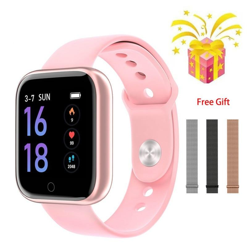 T80 Smart Watch Women Men Sports Fashion Ip68 Waterproof Activity Fitness Tracker Heart Rate Smartwatch VS P68 P70 P11 Smartband