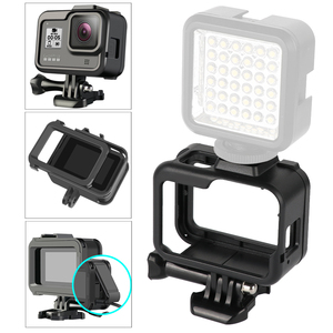 Image 4 - for Gopro Accessories Set go pro hero 8 kit EVA case Tempered film waterproof Housing case red filter Frame silicone Protector