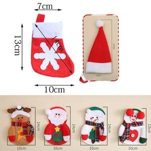Image 2 - 2 pçs natal talheres garfo faca titular saco de talheres papai noel elk boneco de neve chapéu decorações de natal casa jantar mesa decoração