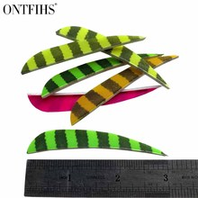 50 Pcs 3 Right Wing Drop Shape Feather Hunting Arrow Accessories With And Turkey Real A-35