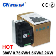 Vsd 380v 0. 75kw/1. 5kw/2.2kw mini vfd conversor variável do controle do motor 0-650hz