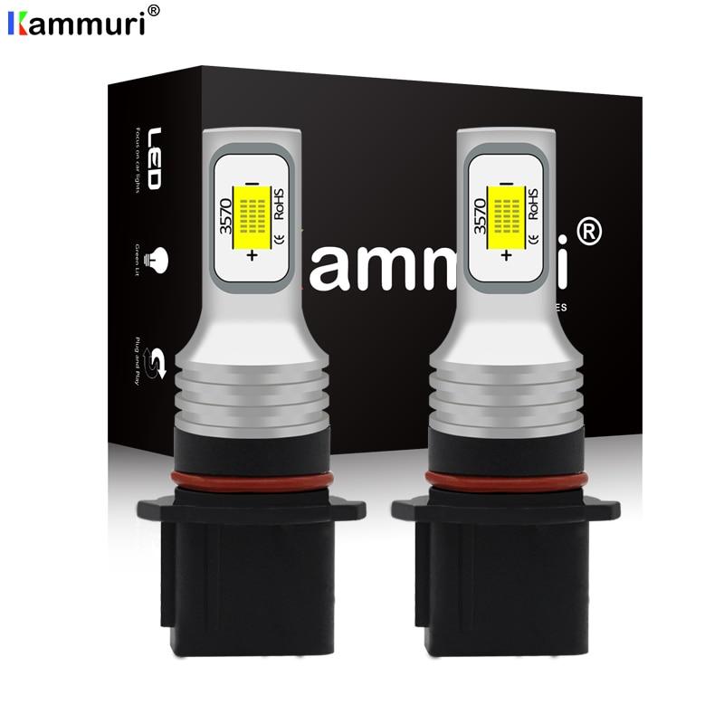 (2) No Error Canbus P13W SH23W PSX26W LED Bulbs For Car Led DRL Fog Driving Lights Lamp Light 6000k White / 3000k Golden Yellow