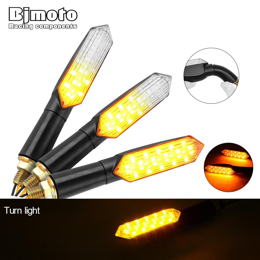 4x 15 LED Motorcycle Turn Signal Lights Blinker Amber Brake Tail Lamp