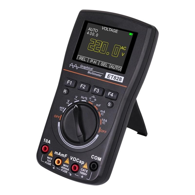 ET828 2 in 1 LED Oscilloscope Multimeter Handheld Color Sn Scope Digital Storage Oscilloscope Digital Multimeter