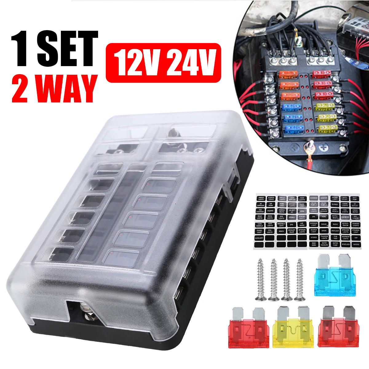 rv fuse box covers 1set 12 way plastic cover fuse box ats blade fuse caravan dual  fuse box ats blade fuse caravan dual