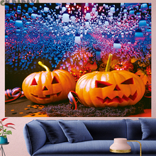 Pumpkin balloon Tapestry Wall Hanging festival Halloween red goblen Home Decor kid's room Christmas wall towel red wall carpet