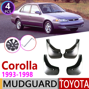 Car Mudflap for Toyota Corolla AE100 E100 1993~1998 Fender Mud Guard Splash Flaps Mudguards Accessories 1994 1995 1996 1997 7th image