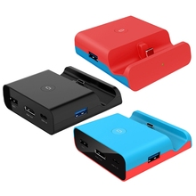 For Switch/Switch Lite Console Video Converter Portable Mini HDMI-Compatible TV Dock Charging Station Charger T21A