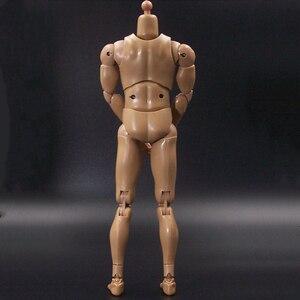 Image 5 - 1/6 escala figura masculina corpo ombro estreito músculo homem soldado 12 inche boneca corpo figura de ação diy móvel
