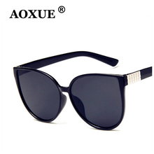 AOXUE Sexy Cat Eye Women Sunglasses Brand Designer Driving Mirror Sun glasses Ladies Shades Eyewear UV Oculos De Sol Feminino стоимость