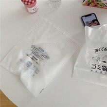 Cartoon Desktop Degradable Garbage Bag Paste Type Car Sundries Bag Home Hanging Disposable Plastic Bag Stationery Storage