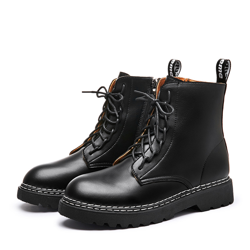 Promo 2020 New Ankle Boots For Women Winter Punk Thick Bottom Motorcycle Boots Women Mid-top Tooling Shoes Outdoor Warm Trend Boots