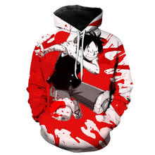 Anime Een Stuk Hoodies 3D Print Sweatshirt Aap D Luffy Ace Sabo Shanks Law Battle Trainingspak Outfit Casual Bovenkleding(China)