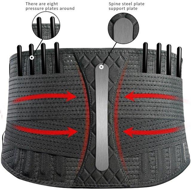 Sport Waist Support belt Weightlifting Protective Gear Waist Fitness Beltback Belt Neoprene waist trimmer fitness sweat belt 4