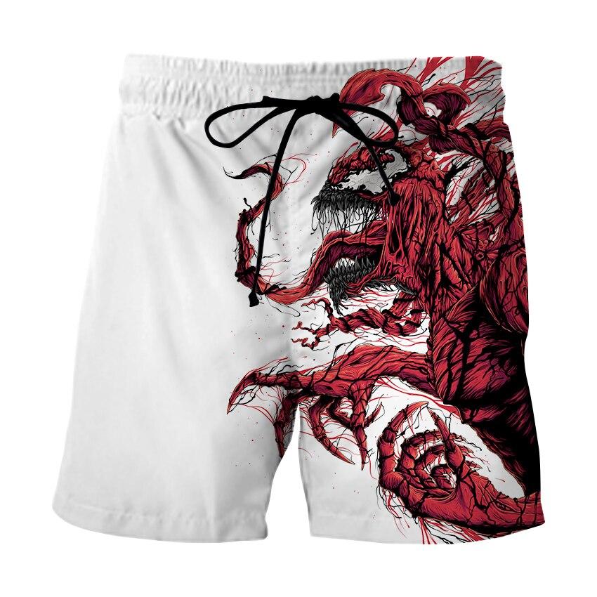 Hot Sale 3D Print Summer Surf Beach Shorts Men Fast Travel Dry Vacation Marvel Nevom Streetwear Shorts Funny Pants Swimwear