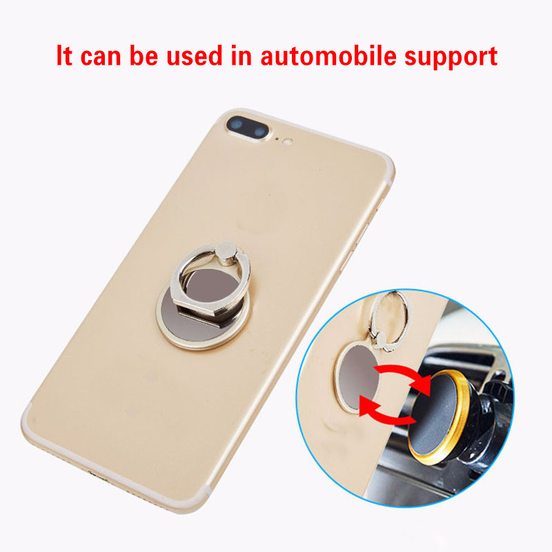 Cell Phone Holder 360 Degree Rotation Finger Hook Ring Anti-fall Magnetic Phone Bracket Holder Car Mobile Phone Holder