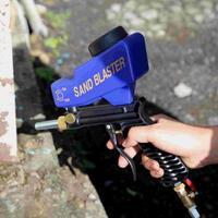 Mini Einstellbare Sandstrahlen Fluss Spritzpistole Schwerkraft Pneumatische Sandstrahler Gun Einstellbare Fluss Rate-in Spritzpistolen aus Werkzeug bei