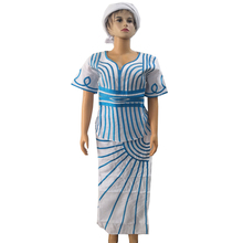 MD dashiki sukienki afrykańskie dla kobiet lniana spódnica krótki raper z szalikiem garnitur haft t shirt 2020 rpa odzież damska
