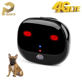 Prazata 4G Pet GPS Tracker Car Dog 4G LTE Tracker Long Standby Waterproof Pet Tracker WIFI Tracking Ringtone Call LED Light Free image
