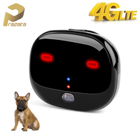 Prazata 4G Pet GPS Tracker Car Dog 4G LTE Tracker Long Standby Waterproof Pet Tracker WIFI Tracking Ringtone Call LED Light Free