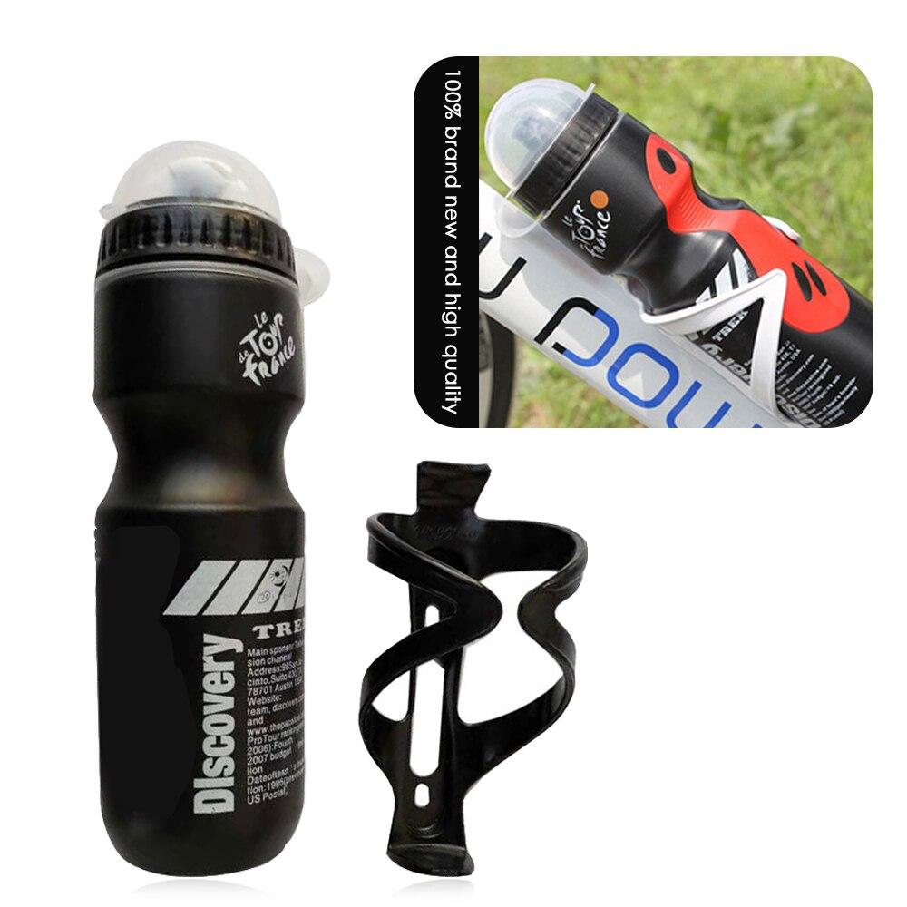 750ML rower górski rowerowa butelka na wodę pitną + uchwyt Outdoor Sports plastikowy przenośny czajnik butelka wody Drinkware