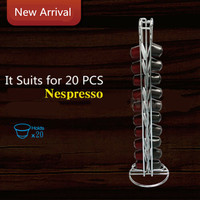 2019 Coffee Capsule Pod Holder Dispenser Coffee Capsules Dispensing Tower Stand Fits For Nespresso Capsule Storage Coffee Holder|Coffeeware Sets| |  -