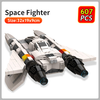 Star Military Space Wars Fighter Building Blocks Model Movie Collection Spacecraft Bricks Kids DIY Educational Plane Toys Gifts kazi space military war weapon battle plane building blocks 342pcs bricks educational assemble toys for children gifts