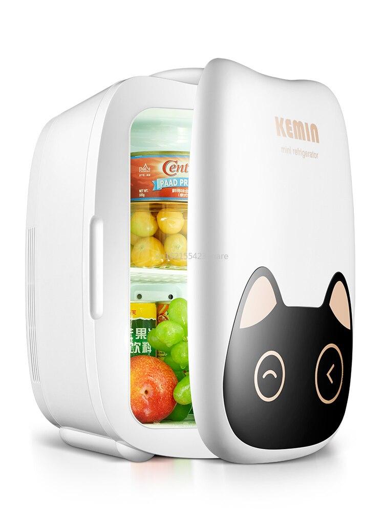 6L Mini Home & Car Dual-Use Cartoon Refrigerators Low Noise Car Refrigerators Freezer Cooling Heating Box Fridge 12V/220V 60W