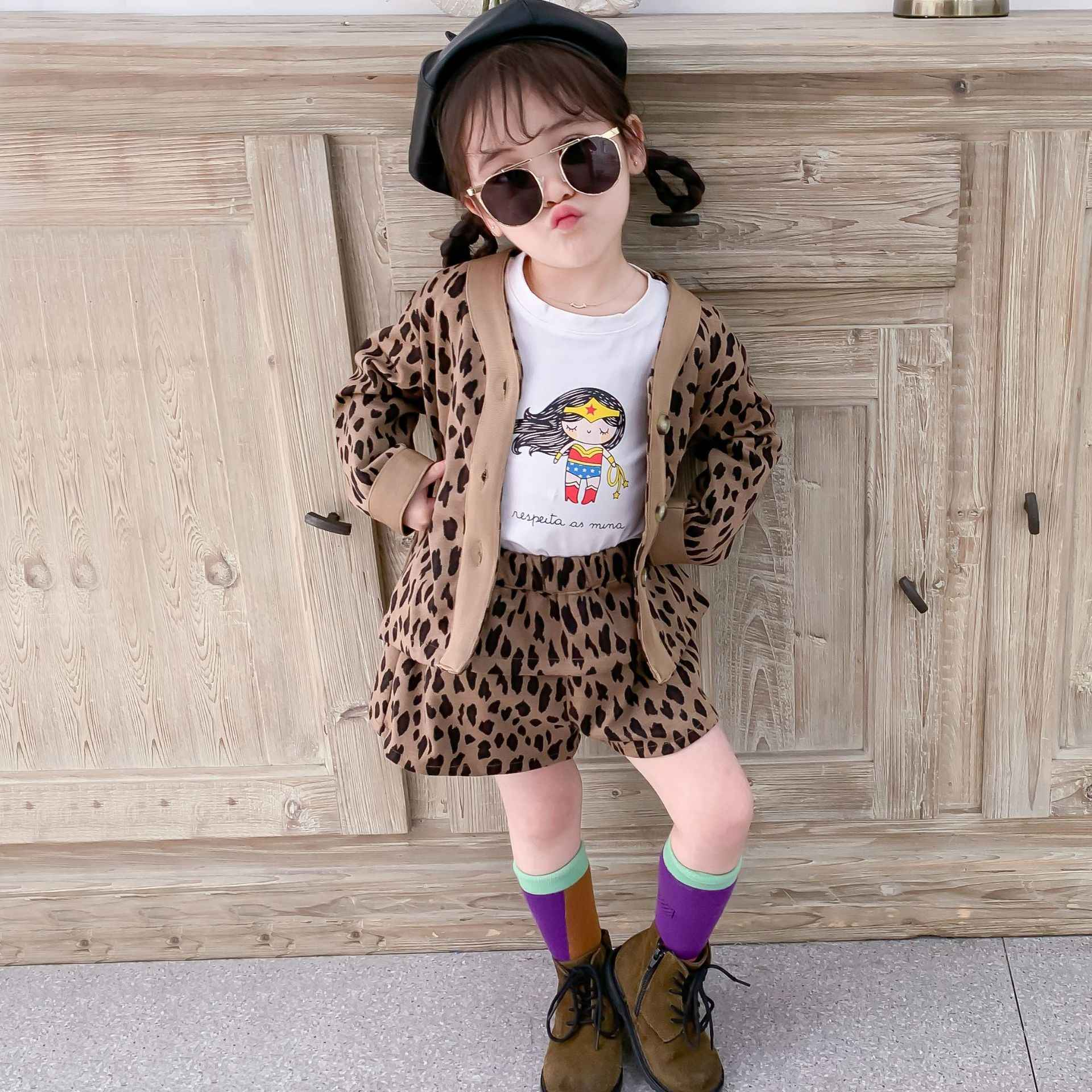 Kids Clothes Boutique Tracksuit 2019 Autumn New Fashion Cute Korean Girls Clothing Children Leopard Print Children S Shorts Set Aliexpress