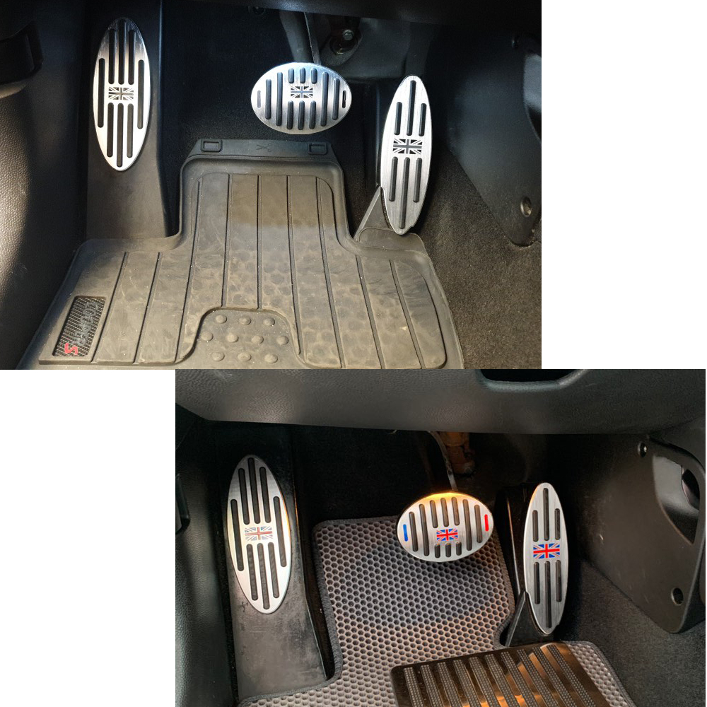 Педальная наклейка для ног MINI Cooper S JCW Countryman F60 R60, аксессуары One R55 R61 F54 F55 F56 F57