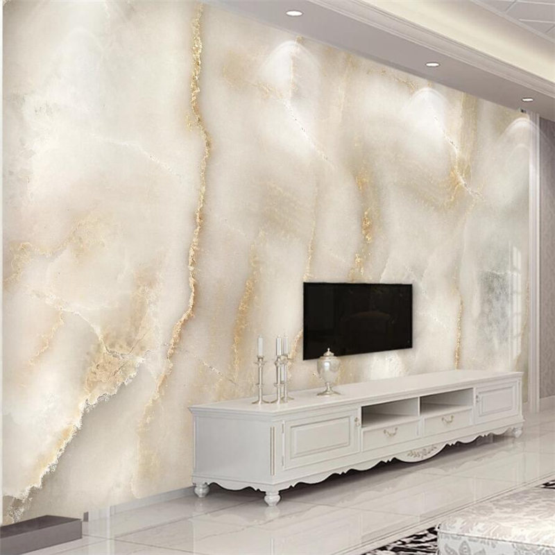 Beibehang Custom Wallpaper 3d Mural Abstract Atmosphere Beige Beige Light Elegant Background Wall Marble Stone Pattern фотообои