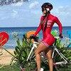 Kafitt triathlon ciclismo jérsei terno senhoras ciclismo sexy apertado fina de manga curta correndo maiô macaquinho feminino 1