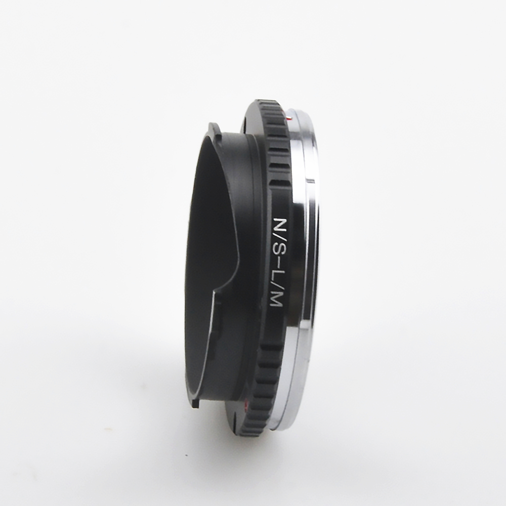 Amopofo, N/S-LM Adapter For Nikon S Lens to for Leica M M9 M8 M7 M6 M5 M4 M220 TECHART LM-EA 7