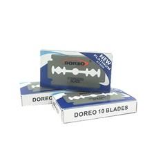 DOREO 1000pcs Men Shaving Razor Blade Stainless Steel Platinum Extra Double Edge Razor Blade Private Care Safety Shaver