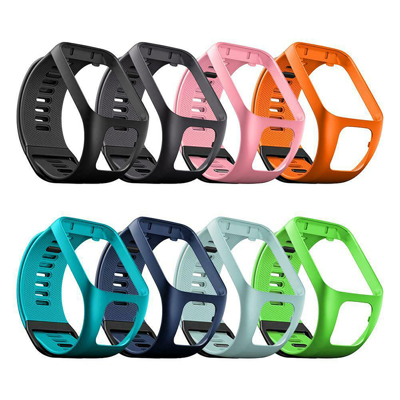 Mr Original Colorful Soft Silicone Replacement Wrist Band Strap For TomTom Runner 2 3 Spark 3 GPS Watch Smart Watch Bracelet