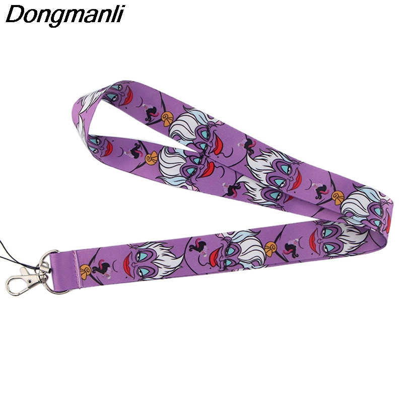 P4007 Dongmanli Ursula Keychain Lanyards Id Badge Holder ID Card Pass Gym Mobile Badge Holder Key Strap