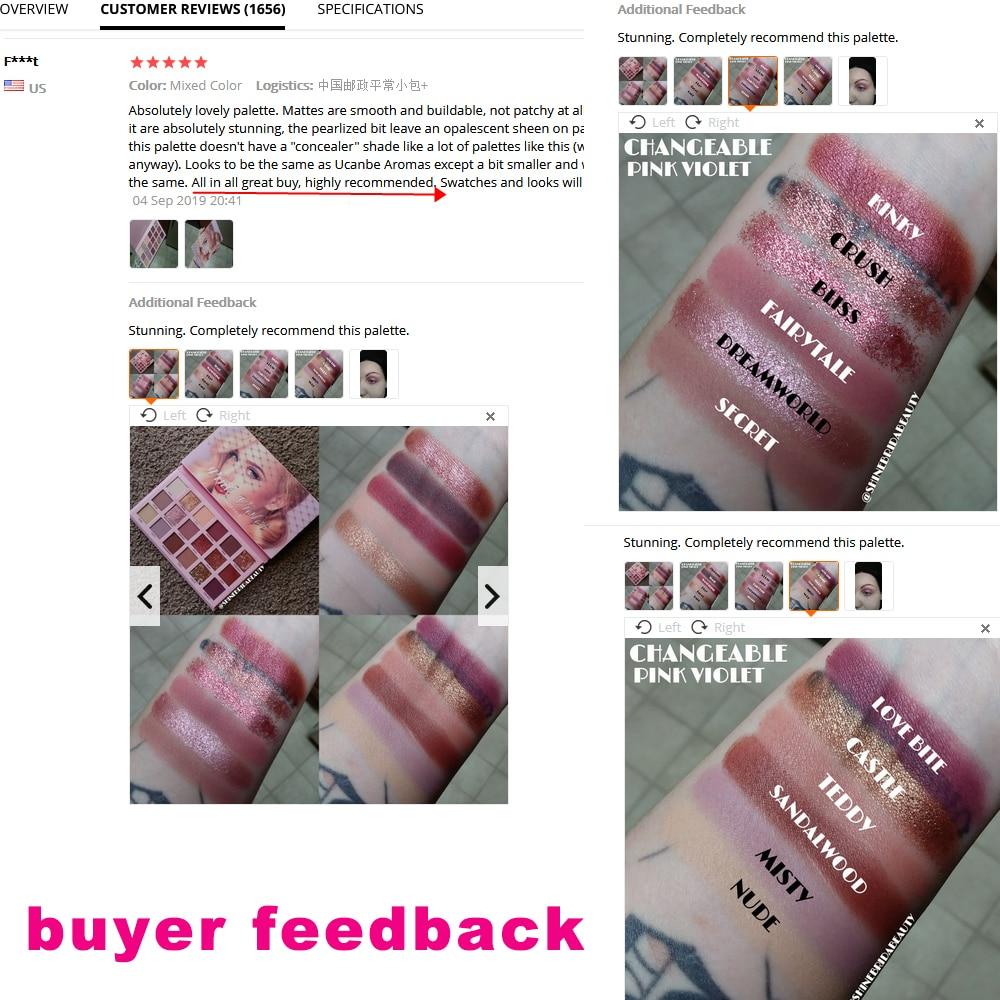 Changeable Nude Eye Shadow Beauty Palette Makeup Kit 18 Colors Matte Shimmer Glitter Eyeshadow Powder Waterproof Pigmented 5