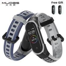 Dla Mi Band 5 pasek Sport silikonowy zegarek nadgarstek dla Miband 4 pasek inteligentna bransoletka dla opaska Xiaomi 3 zespół dla Mi zespół 5 pasek