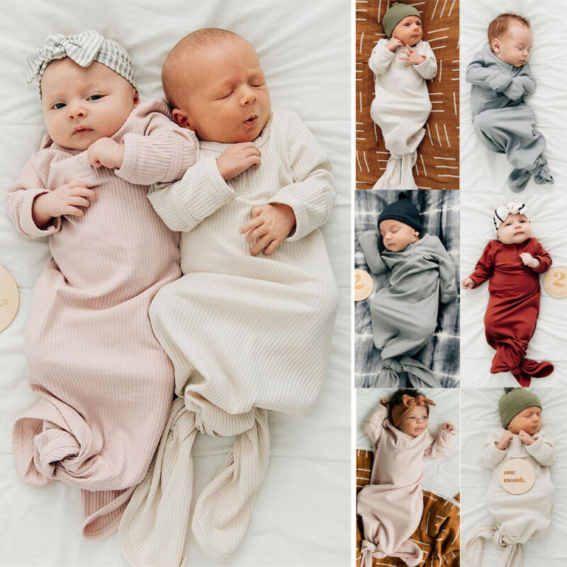 Baby Girl Boy Swaddle Wrap Newborn Infant Solid Color Sleeping Bag Cotton