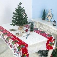 Скатерть на год и Рождество, украшения для кухонного обеденного стола, прямоугольные вечерние скатерти, рождественские украшения для дома