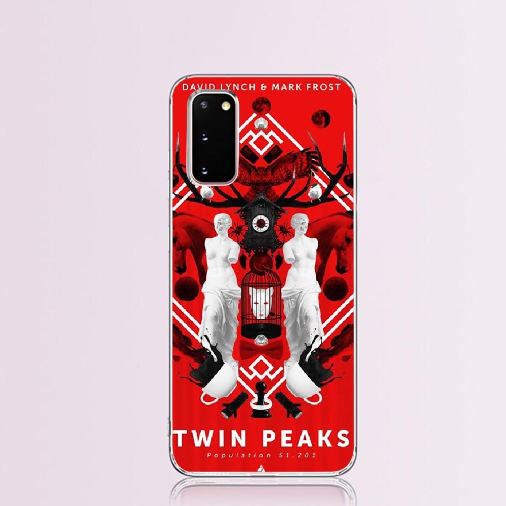 Nbdruicai bem-vindo ao twin peaks duro coque escudo caso de telefone para samsung s9 plus s5 s6 s7 borda s8 s10 plus