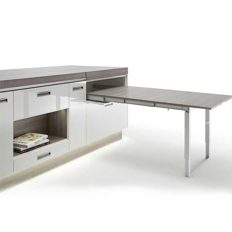 Isola Cucina Espandibile Su Misura Con Tavolo Da Pranzo Allungabile Bianco Cassetto Dining Tables Aliexpress