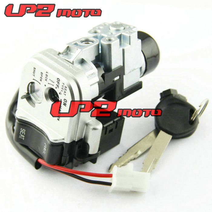 Motorcycle Motorbike Ignition Switch Key with Wire Electric Door Lock For HONDA PCX125 2012 2013