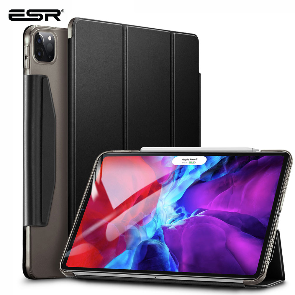 ESR For 12.9 Inch IPad Pro Case 2020 Back Cover With Apple Pencil Holder Shock-Resistant Cover For IPad Pro 11 12.9 Inch Case