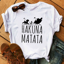 FIXSYS Hakuna Matata Letter Print Tee Shirt Summer Women Short Sleeve T Shirt Women Casual Tops Tee Female Fashion T-shirts Tops wotwoy casual cotton t shirt women short sleeve summer tops women embossing letter print tee shirt female loose t shirts women