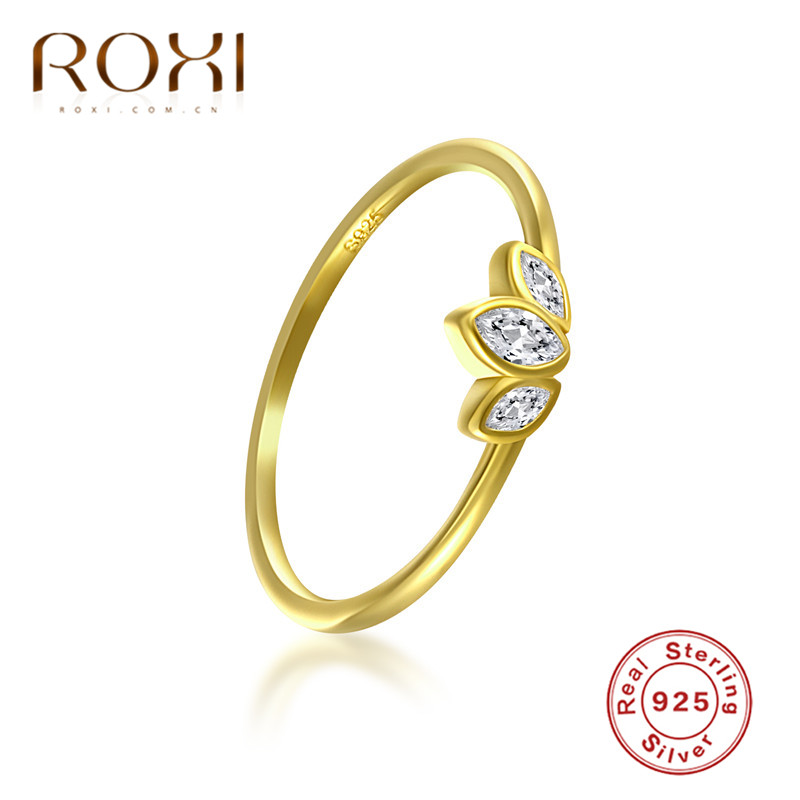 ROXI-anillo de compromiso plata de primera ley y circón para mujer, sortija, plata esterlina 925, Circonia cúbica, zirconia, circonita, zirconita, diseño Simple, anillo alianzas de boda