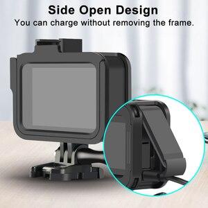 Image 4 - Cnc Aluminium Case Voor Gopro Hero 8 Zwart Metalen Frame Kooi + Screen Protector + Lens Gehard Glas Voor Go pro 8 Accessoires